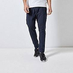 Burton - Navy Pin-Tuck Tapered Fit Joggers