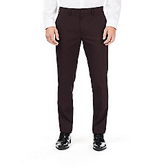 Burton - Skinny stretch burgundy trousers