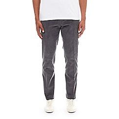 Burton - Grey stretch skinny fit corduroy trousers