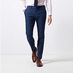 Burton - Navy Skinny Fit Mini Check Stretch Trousers