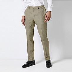 Burton - Cream Skinny Wool Classic Check Print Trousers