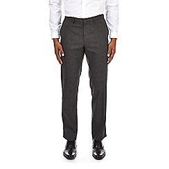 Burton - Grey prince of wales check skinny fit stretch trousers