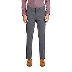 Burton - Grey skinny fit herringbone trousers
