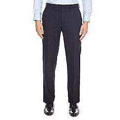 Burton - Navy regular fit dogtooth trousers