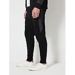 Burton - Black nylon panel joggers