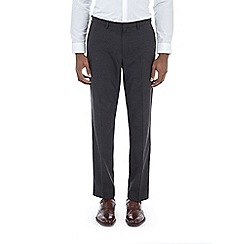 Burton - Black regular fit textured trousers