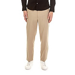Burton - Taupe regular fit stretch trousers