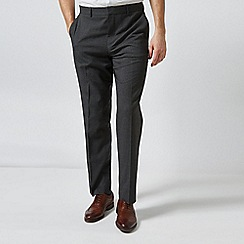 Burton - Charcoal Regular Fit Prince Of Wales Checked Trousers