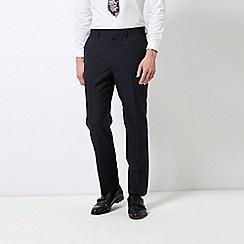Burton - Navy Regular Fit Striped Trousers