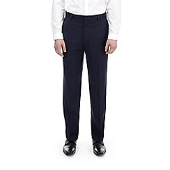 Burton - Blue checked regular fit stretch trousers