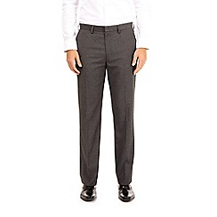 Burton - Grey regular fit stretch trousers