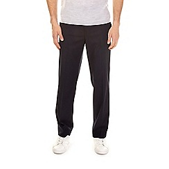 Burton - Navy regular fit stretch trousers