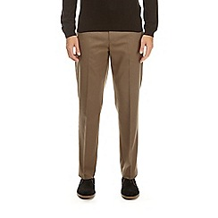 Burton - Taupe regular fit twill trousers