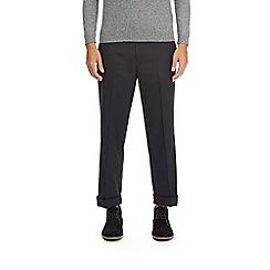 Burton - Navy regular fit twill trousers