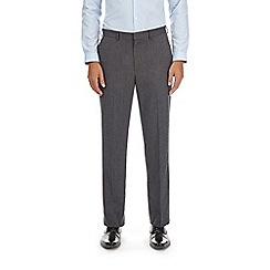 Burton - Charcoal regular fit herringbone trousers