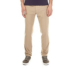 Burton - Taupe slim fit stretch trousers