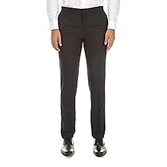Burton - Dark grey striped slim fit trousers