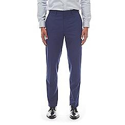 Burton - Navy slim fit textured trousers