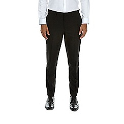 Burton - Stretch tapered black trousers