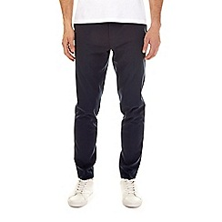 Burton - Blue tapered fit stretch trousers