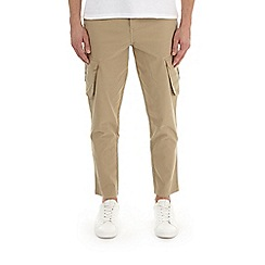 Burton - Camel tapered fit stretch cargo trousers