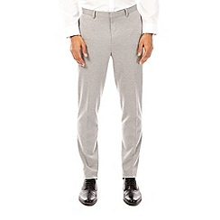Burton - Light grey tapered fit jersey trousers