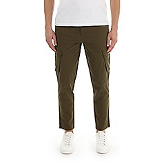 Burton - Khaki tapered fit stretch cargo trousers