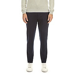 Burton - Navy tapered fit jersey trousers
