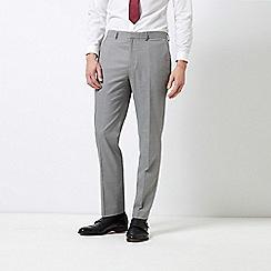 Burton - Grey Dogtooth Slim Fit Stretch Trousers