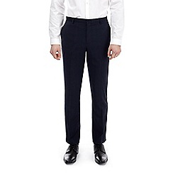 Burton - Blue slim fit checked stretch trousers
