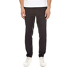 Burton - Navy stretch tapered fit trousers