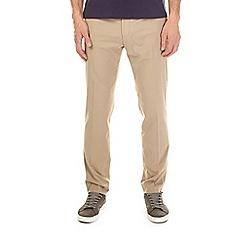 Burton - Taupe slim fit stretch trousers