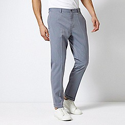 Burton - Grey Slim Fit Textured Stretch Trousers
