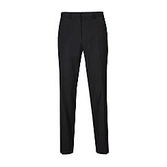 Burton - Big & tall black slim fit trousers with stretch