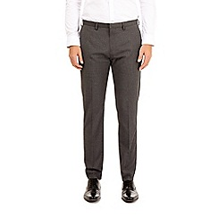Burton - Grey tapered fit stretch trousers