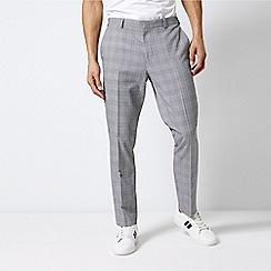 Burton - Blue Check Slim Fit Trousers