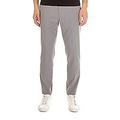Burton - Light grey tapered fit stretch trousers