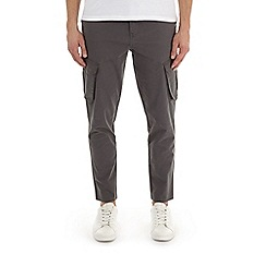 Burton - Grey tapered fit stretch cargo trousers