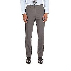 Burton - Grey mini checked slim fit trousers