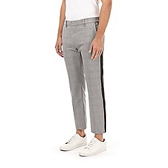 Burton - Check side striped slim fit trousers