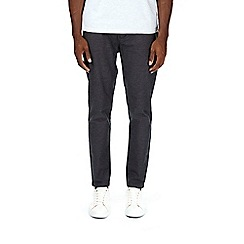 Burton - Grey tapered fit oxford chinos