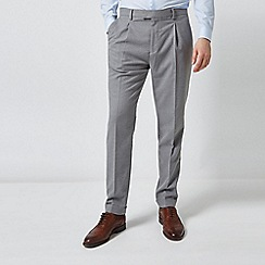 Burton - Grey Tapered Fit Soft Touch Trousers