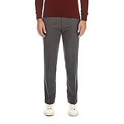 Burton - Grey herringbone slim fit trousers