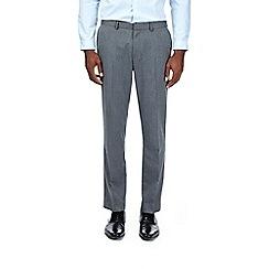 Burton - Grey slim fit herringbone trousers