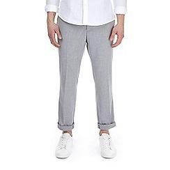 Burton - Grey stretch textured slim fit trousers