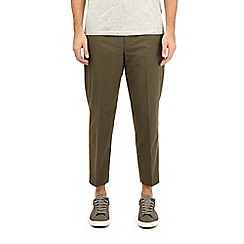 Burton - Khaki lightweight tapered fit stretch trousers