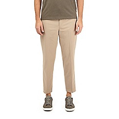 Burton - Stone lightweight tapered fit stretch trousers