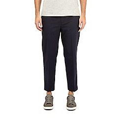 Burton - Navy lightweight stretch trousers