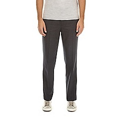 Burton - Charcoal tailored fit tonal checked trousers