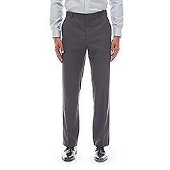 Burton - Grey tailored fit mini check design trousers